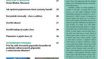 obsah časopisu Nová Exota - únor 2020