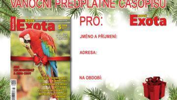 Ideální dárek na vánoce: Předplatné časopisu Nová Exota