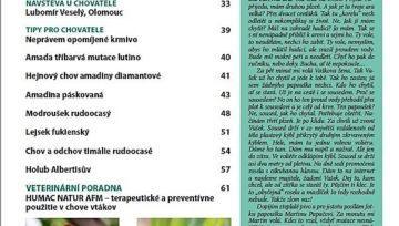 Nová Exota - červenec - srpen 2019, obsah čísla