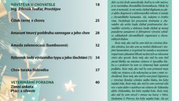 Obsah časopisu Nová Exota č. 12/2020