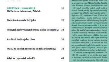 Obsah časopisu Nová Exota č. 1/2021